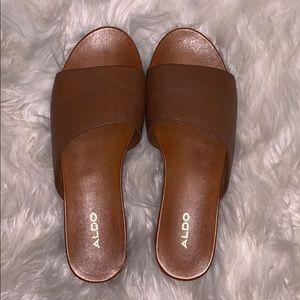 Aldo leather brown sandals.